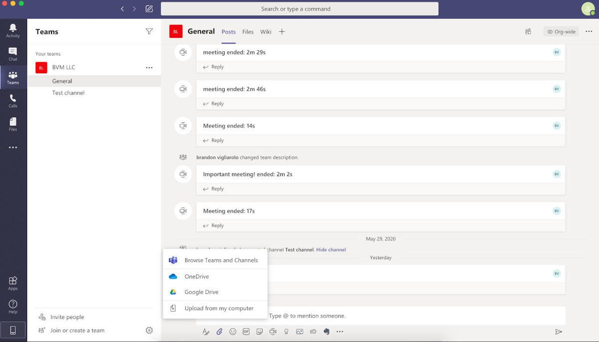 How to share a document with Microsoft Teams