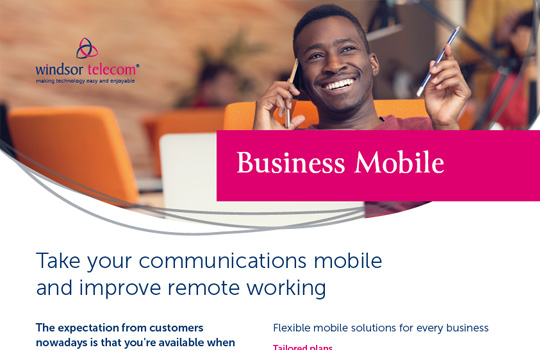 Business mobile product sheet