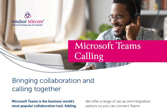 Microsoft Teams Calling product sheet