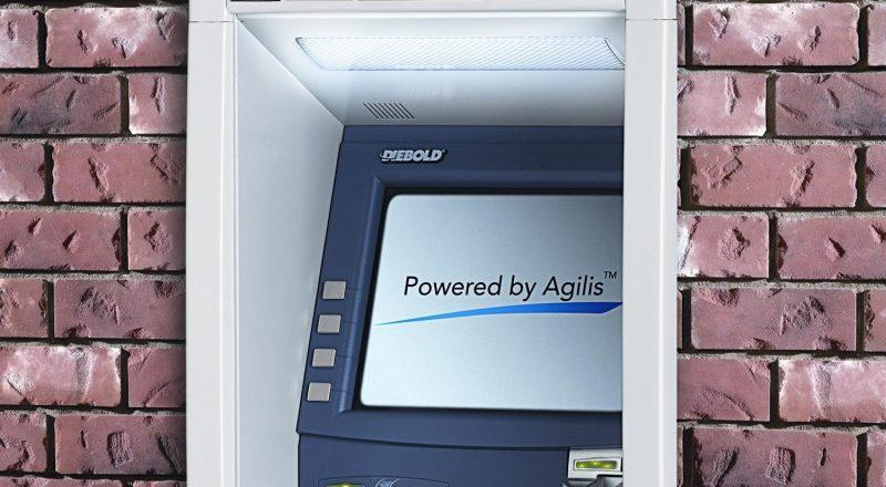 A Diebold touch screen ATM machine