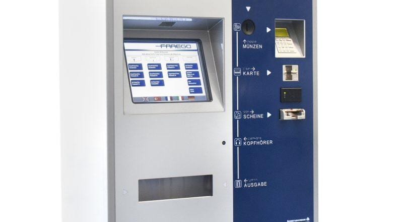 Scheidt Bachmann Tyneside Ticketing System ZY344 with interactive touchscreen