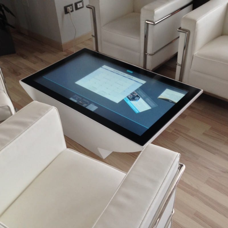 A ZYBRID touch sensor implemented onto a touch window interactive table