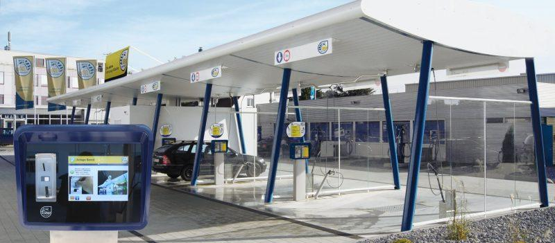 Nilfisk car wash using Zytronic touch screens for improved efficiency