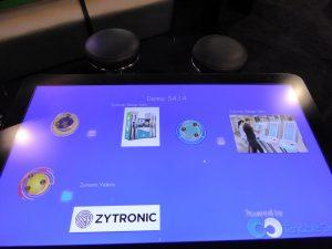 A zytronic touch screen sensor used for object recognition