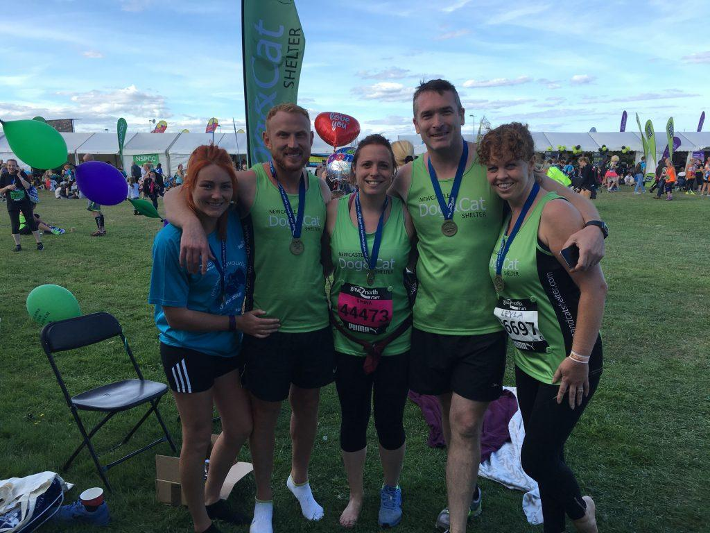 Zytronic team members pictured after the Great North Run