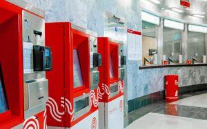 Bus ticket machine at Moscow Metro featuring Zytronic touch technology