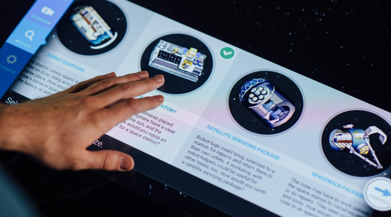 Touch technology featured in information app Design It at the Smithsonian Museum