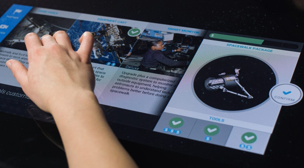 Zytronic touch technology featured in the Design It application for the Smithsonian national air and space museum