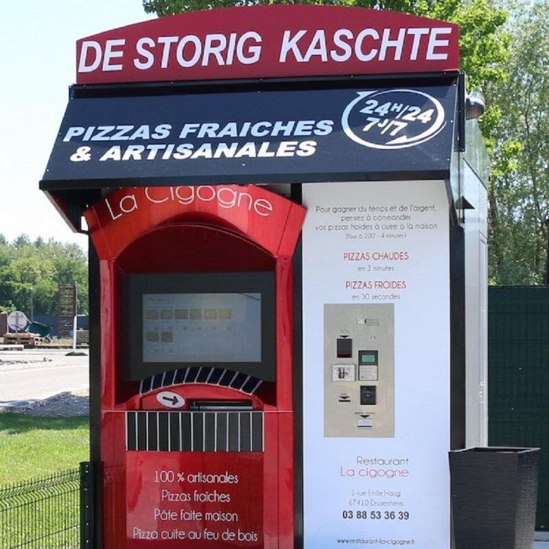 Zytronic touch technology in self service Pizza kiosk ADIAL PIZZADOOR in France