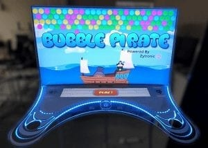 Bubble Pirate gaming system featuring Zytronic touch technology