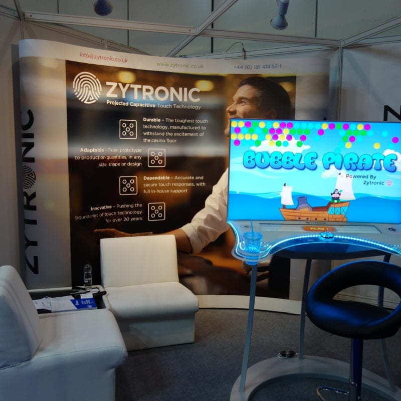 Zytronic touch technology used in gaming system for ISE event
