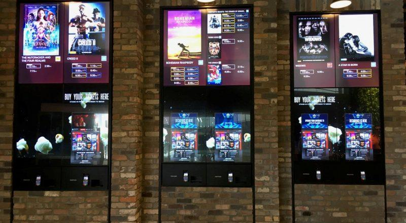 Zytronic touch screen used in cinemas for ticket purchase
