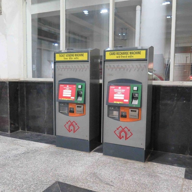 Lucknow Metro ticket kiosks using Zytronic touchscreen technology