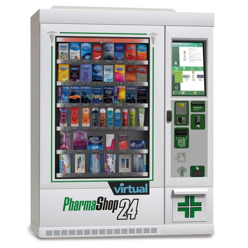 use of Zytronics touch screen technology in interactive pharmaceutical vending machines